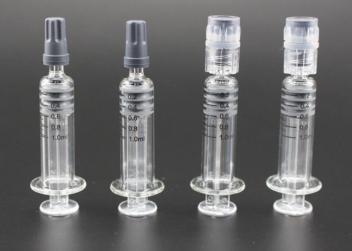 Measurement Mark Glass Syringe 1ml Luer Lock Syringe For CBD Oil Cartridge